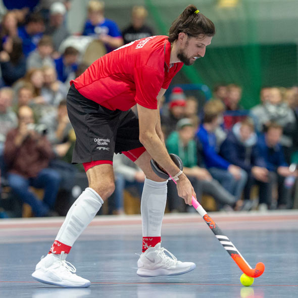 Eishockey-Spieler Philip Schlageter in Aktion